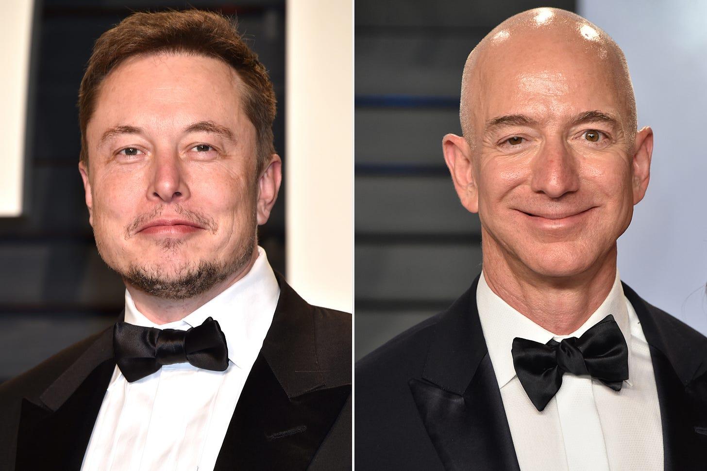 Elon Musk Mocks Jeff Bezos' Blue Origin in NASA Space Race | PEOPLE.com