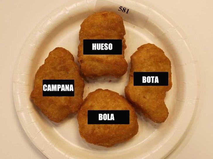 Sabías que los nuggets de McDonald's solo vienen en cuatro formas? Esta es  la razón de que sea así | Upsocl