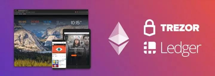 Brave Browser working to integrate Ethereum, Ledger, and Trezor wallets