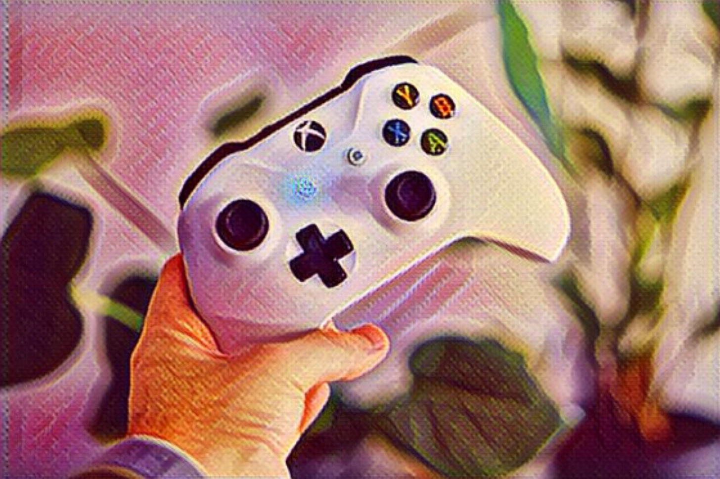 xbox controller with style transfer