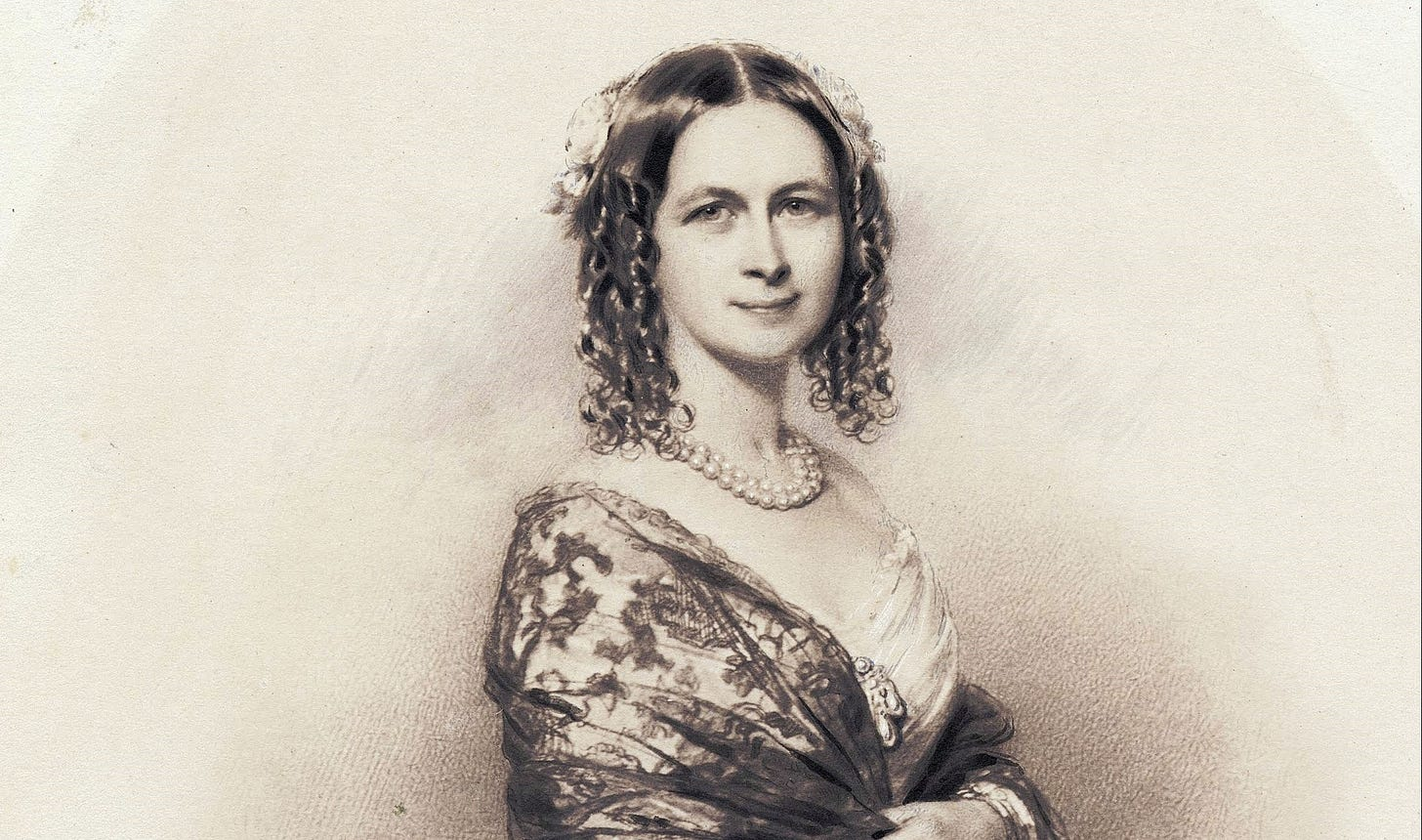Portrait of opera singer Jenny Lind (1820–1887)