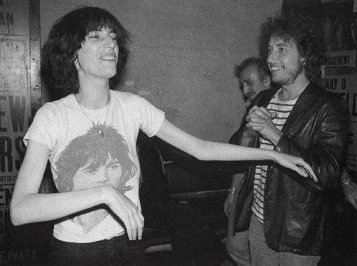 Audio: Patti Smith Talks About Singing With Bob Dylan – 'like drinking the  purest water' - Page 2 of 2 - DAYS OF THE CRAZY-WILD