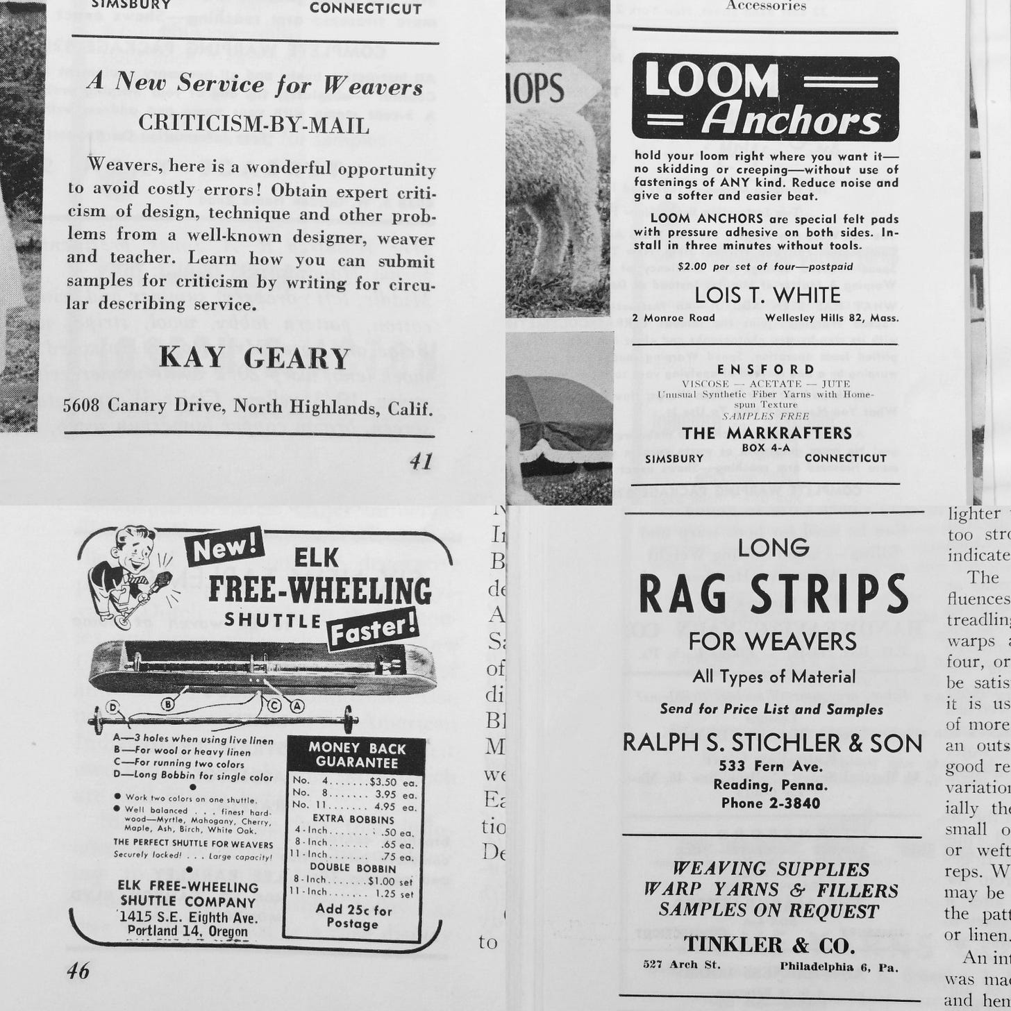Collage of old magazine advertisements