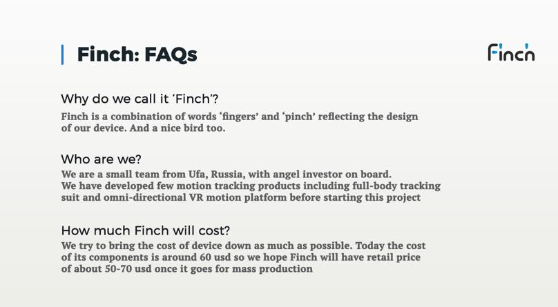 Finch VR дорожает