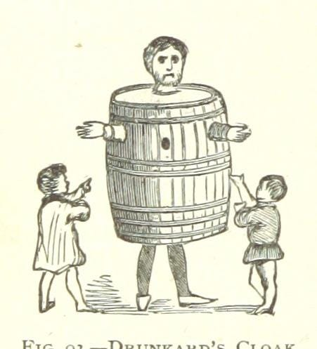 17th Century pillory - the drunkard's cloak. Used as starter, great discussion! via @MechCuratorBot