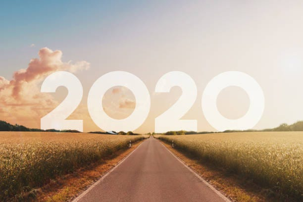 empty, straight road in rural landscape empty, straight road heading towards new year 2020 - happy new year concept, 2020 stock pictures, royalty-free photos & images