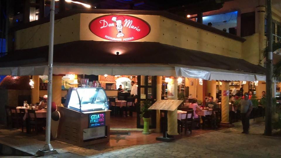 Don Mario pizzeria, Playa del Carmen, Av. 10 Calle 8 Esquina - Restaurant  reviews