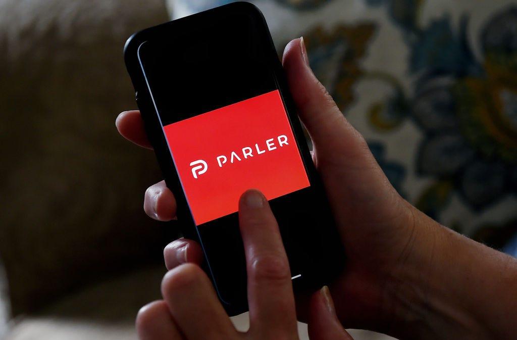 Parler app (Olivier Douliery / AFP)