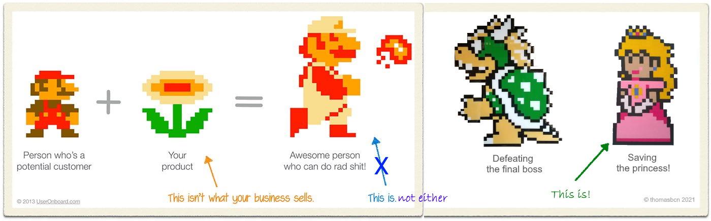 features vs benefits, Mario @thomasbcn