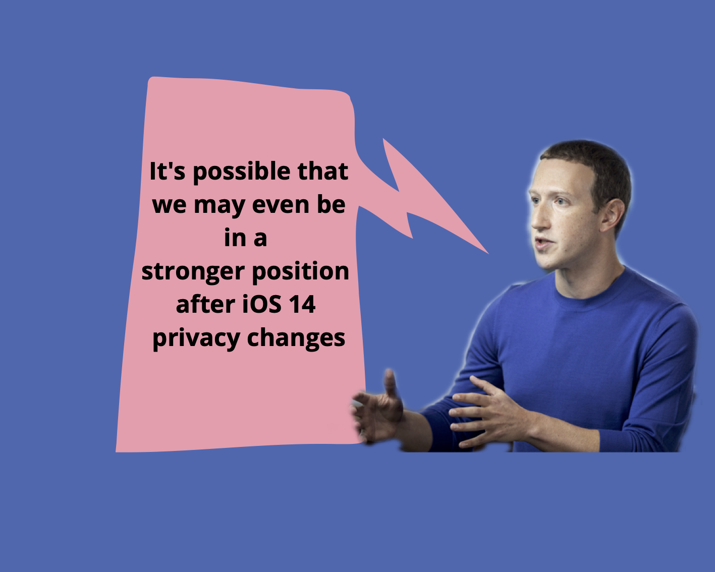Mark Zuckerberg thinks iOS 14 might eventually benefit Facebook