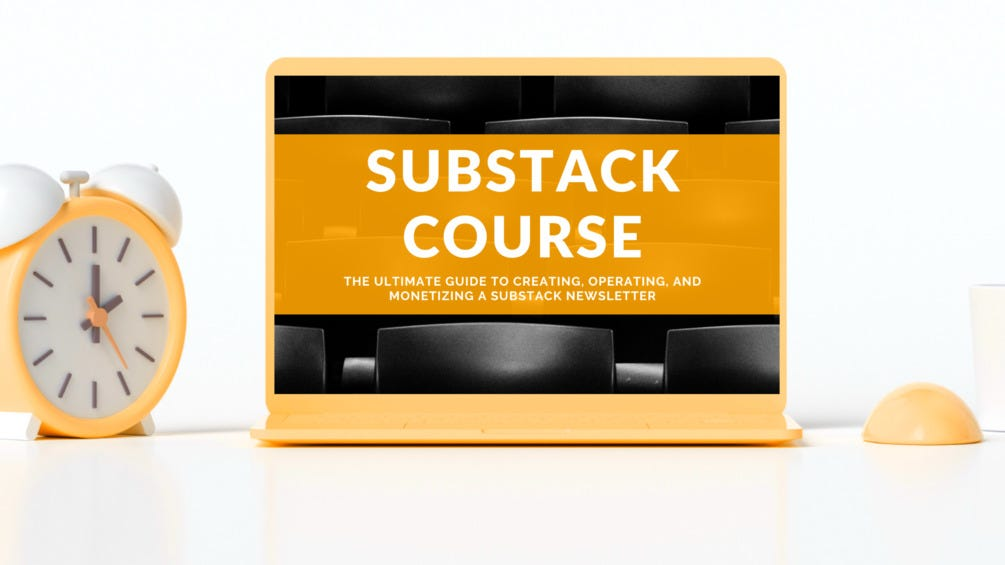 substack course, substack newsletter coursem how to start substack newsletter, substack class, substack grow, substack tool