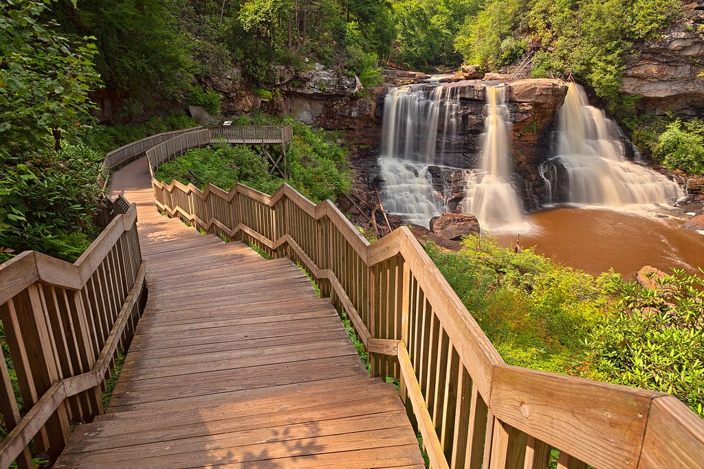 """""""Winding Blackwater Falls"""" by Bold Frontiers is licensed under CC BY 2.0"""