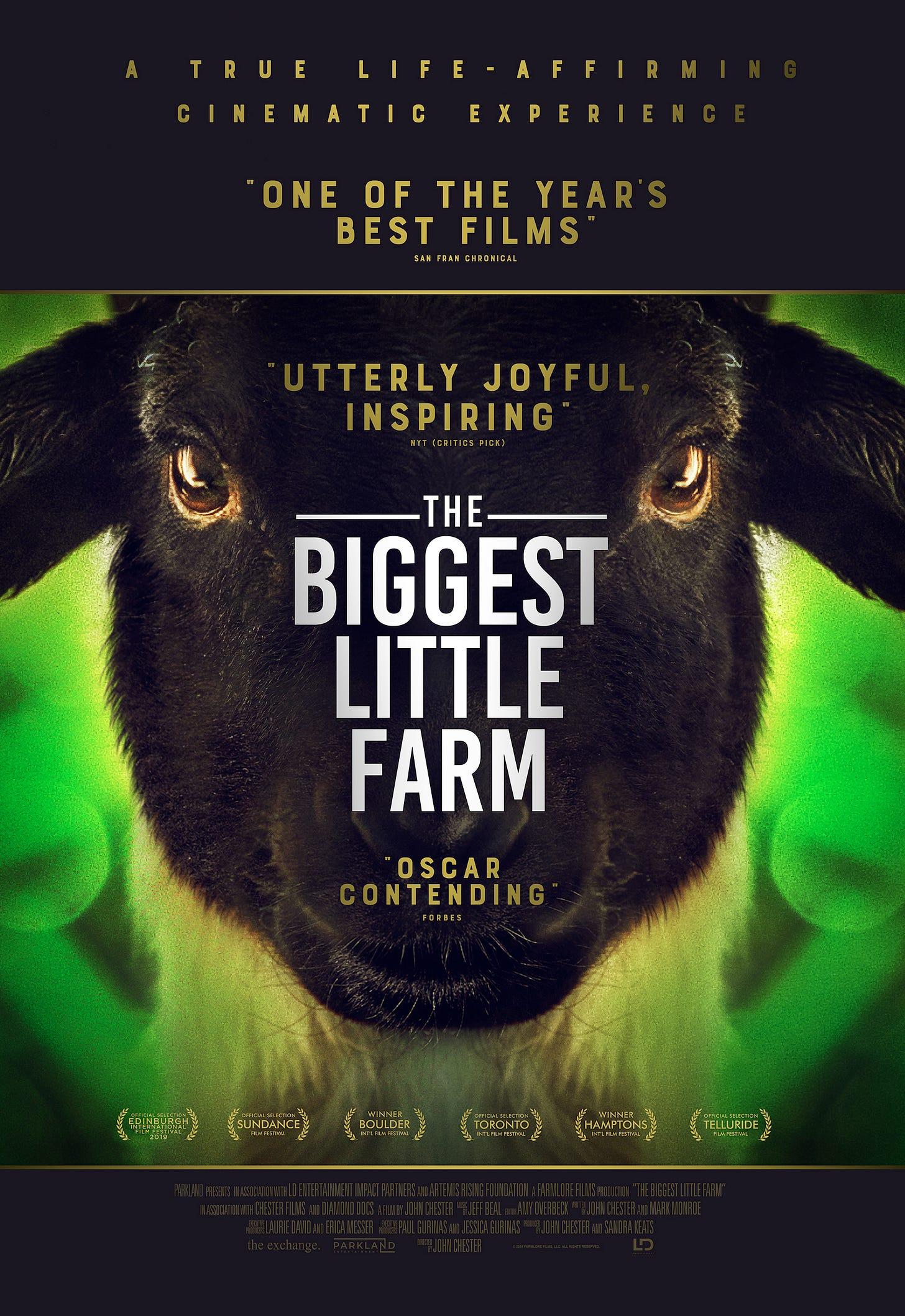 The Biggest Little Farm (PG) : Norden Farm Centre for the Arts - Theatre in  Maidenhead