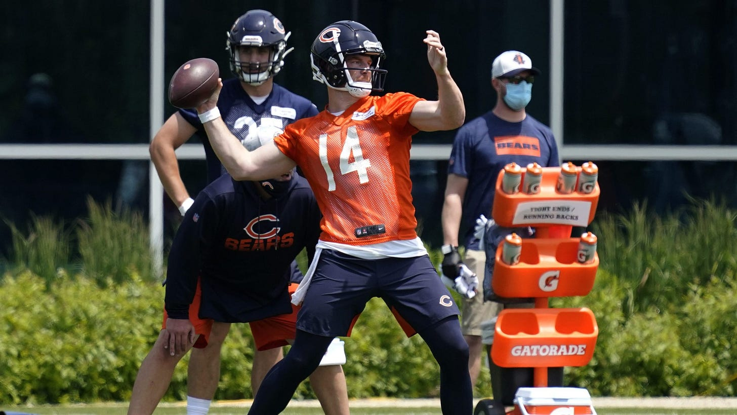 Bears QB Andy Dalton prepares to be a starter while also being a mentor |  WGN-TV
