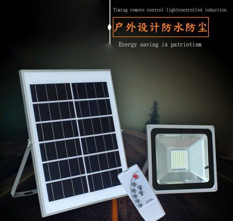 10PCS 10W 20W 30W 50W Outdoor Reflector Remote Control Solar Power Floodlight With Panels For Garden Flood Light LED Spotlight