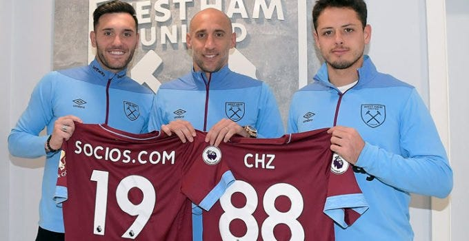 West Ham, Sociio, Blockchain