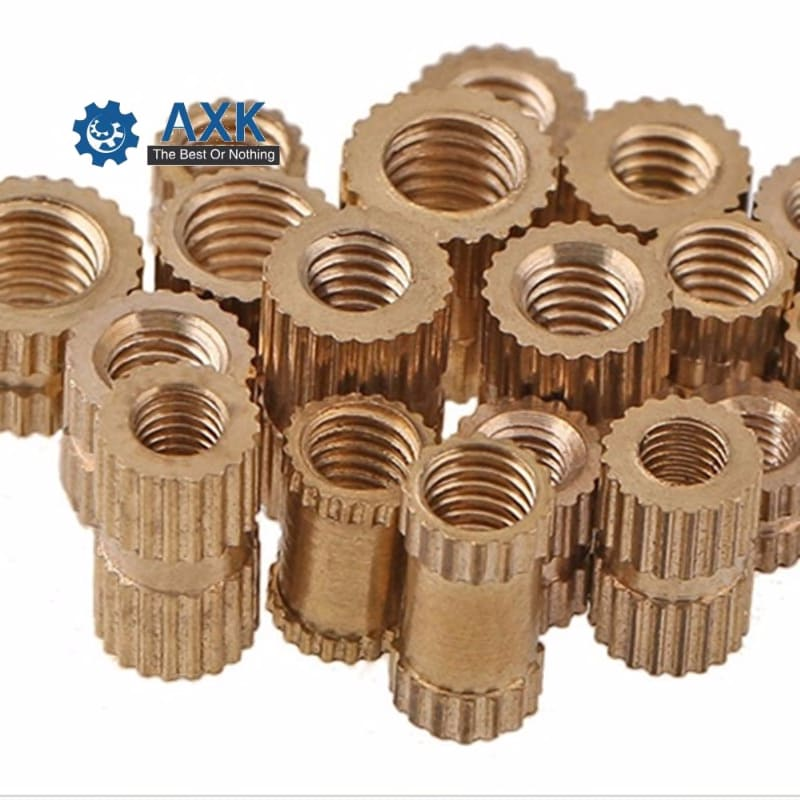 Insert Nut Brass 100pcs/lot M2 M2.5 M3 Though-hole Stainlness Steel Copper Through Hole A Knurled Axk Electrical 20cm X 5cm