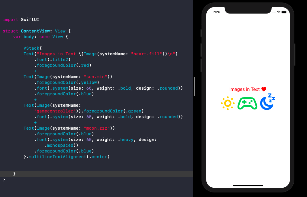 SwiftUI Text With Image Interpolation