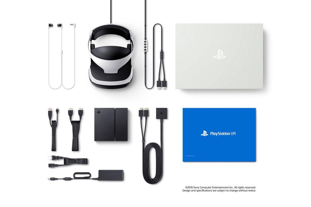 Комплект поставки PlayStation VR
