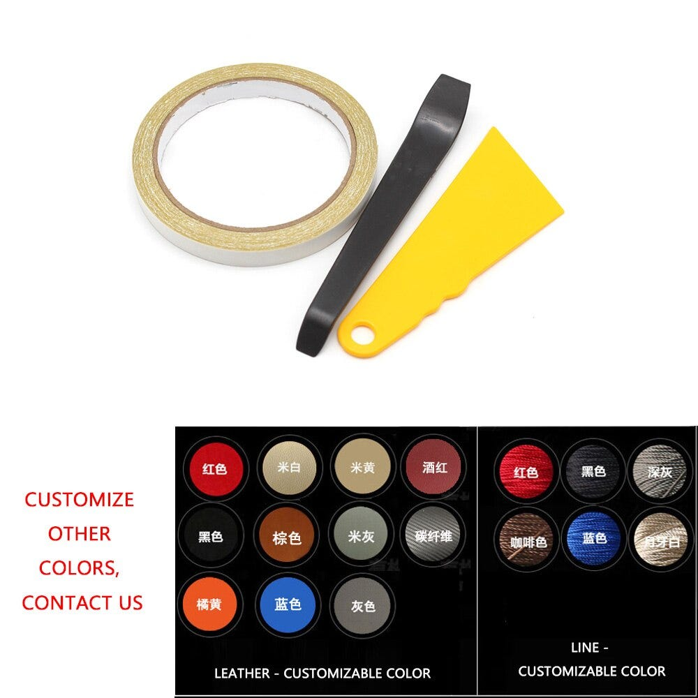 4PCS Car Interior Microfiber Leather Door Armrest Panel Cover Protective Trim For Peugeot 301 2014 2015 2016 2017 2018