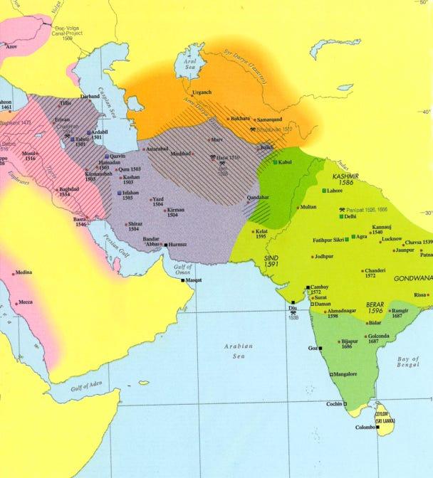 Map - Iran - Safavids & Neighbors