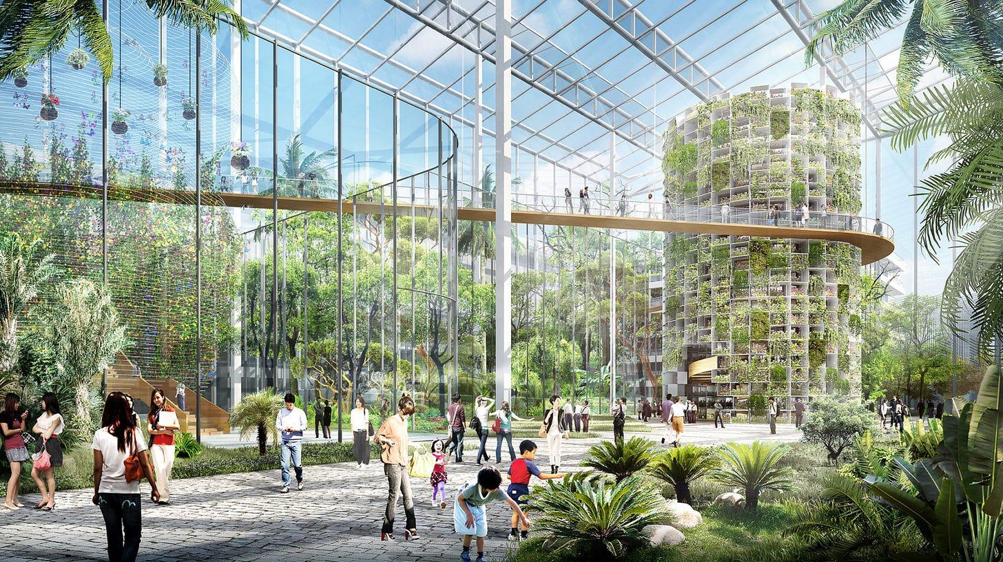 rendering of vertical farm