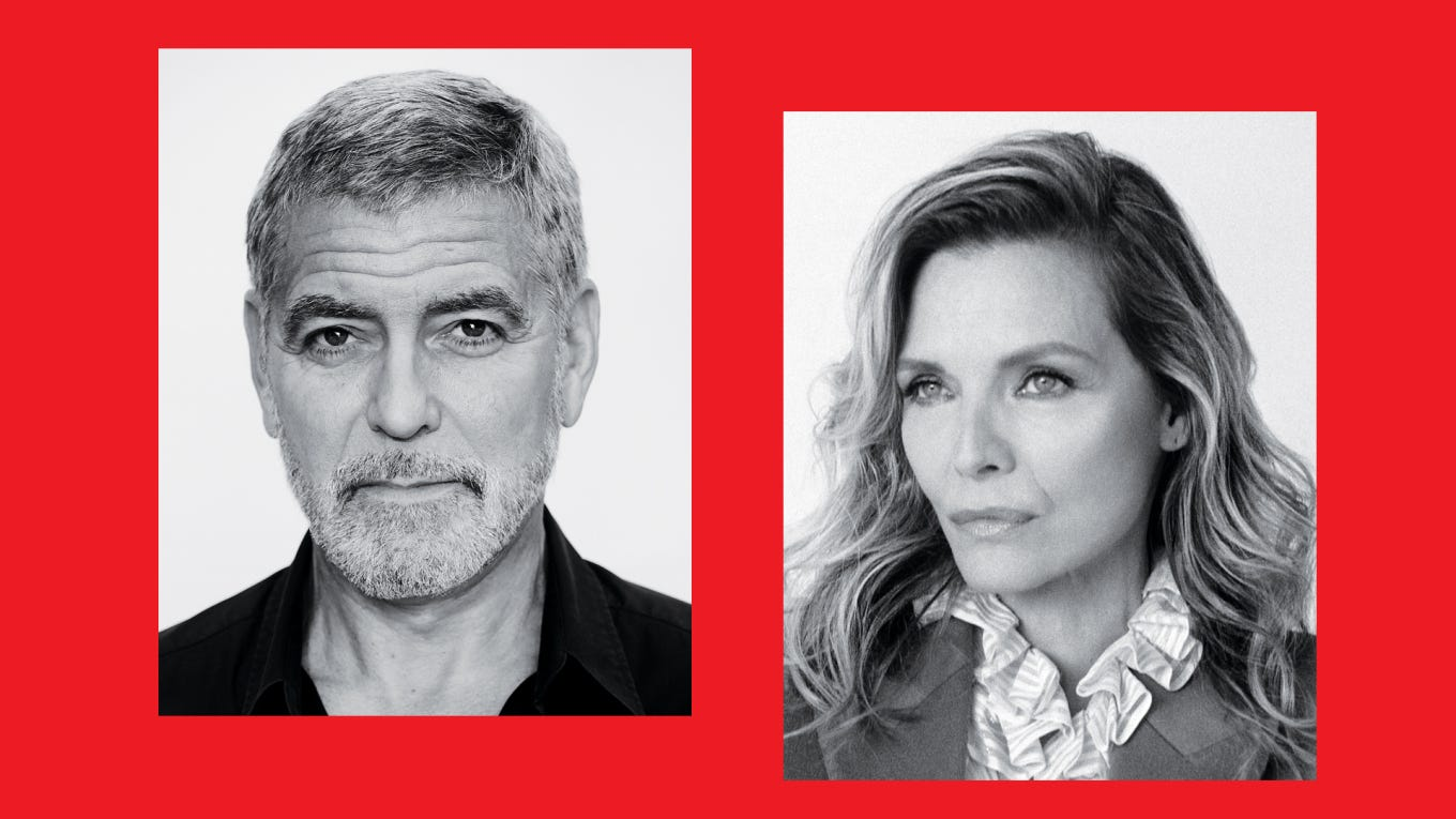George Clooney Michelle Pfeiffer Actors on
