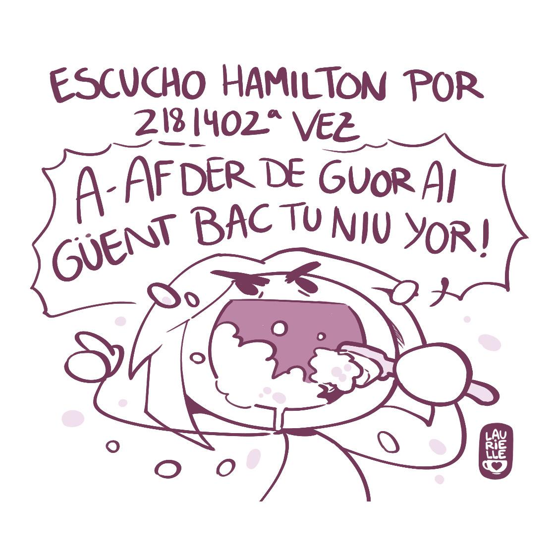 Cuando oigo Hamilton mi cerebro pierde la capacidad de hacer cualquier cosa que no sean los coros.