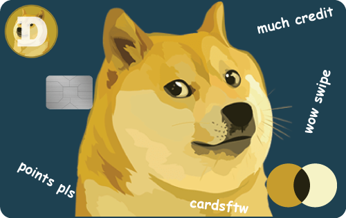 Dogecoin Credit Card by CardsFTW