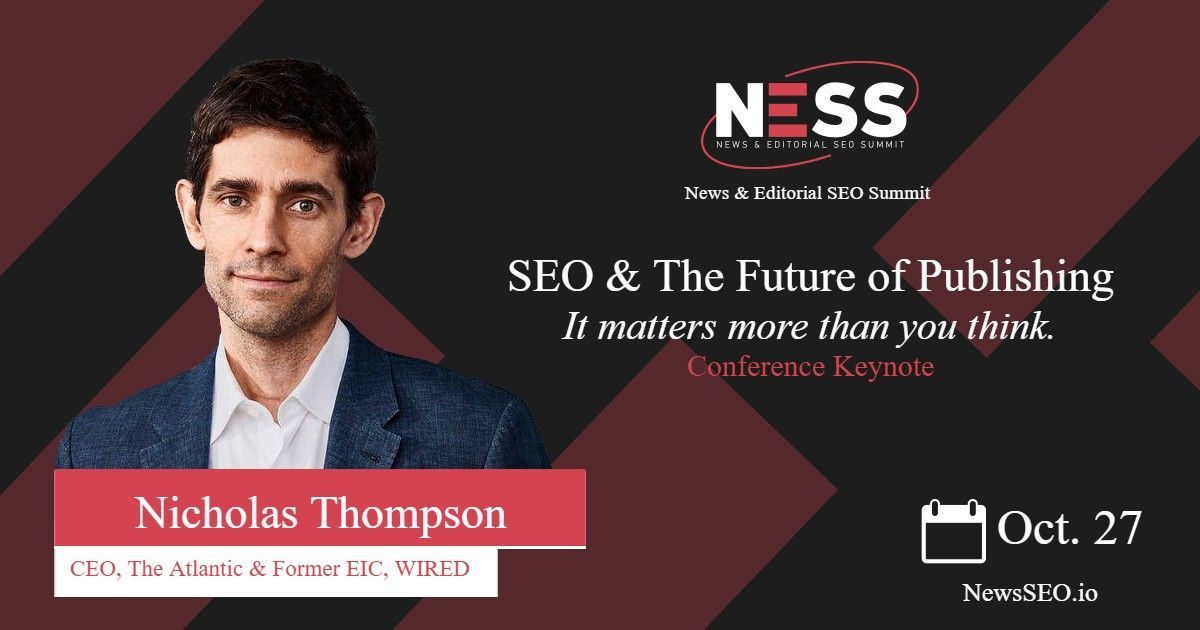 Nicholas Thompson, NESS keynote speaker