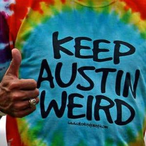a shirt that says keep austin weird