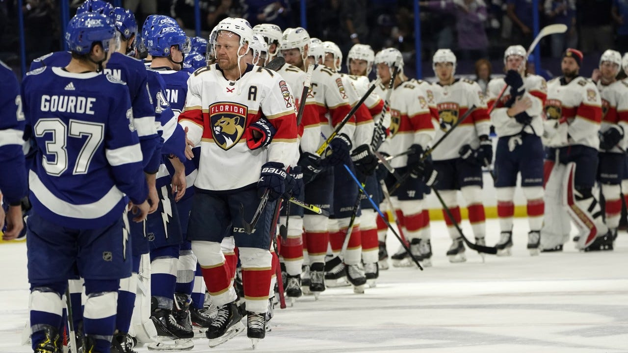 Lightning shut out Panthers 4-0, end season for Florida