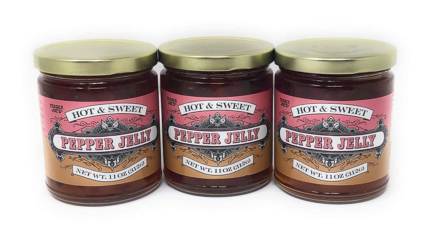 Amazon.com : Trader Joe's Hot & Sweet Hot Pepper Jelly 11 oz (Case of 3) :  Grocery & Gourmet Food