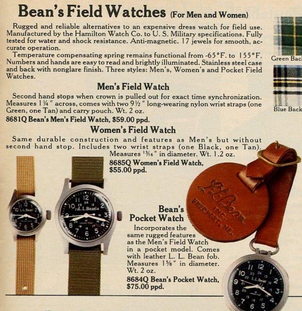 ll bean field watch catalog