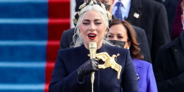 Twitter Is Living for the 'Hunger Games'-Inspired Mockingjay Pin Lady Gaga  Wore to the Inauguration