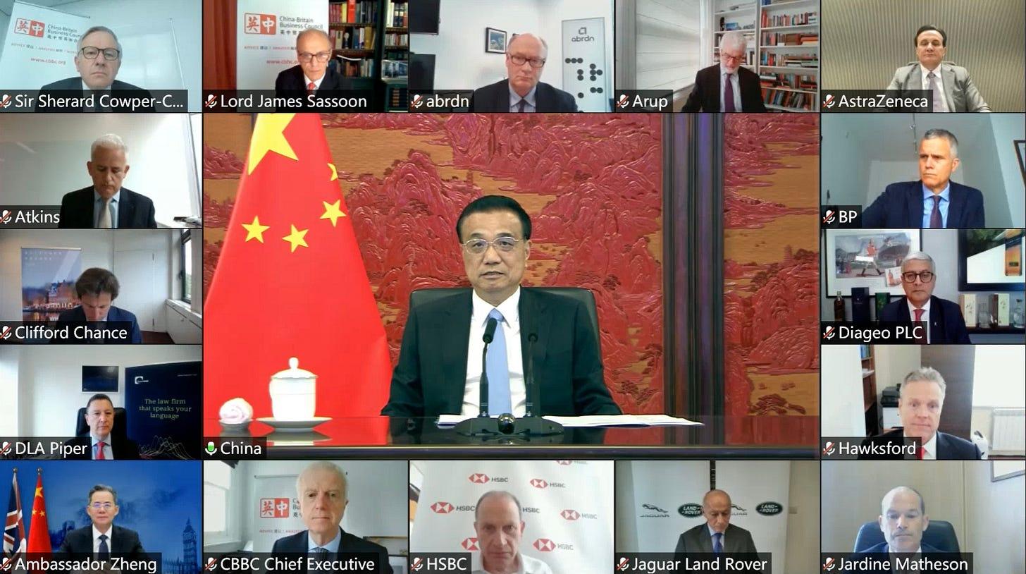 CBBC Business Group Meets Chinese Premier LI Keqiang
