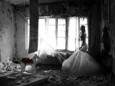 Woman, Sad, Wedding, Sadness, Mood