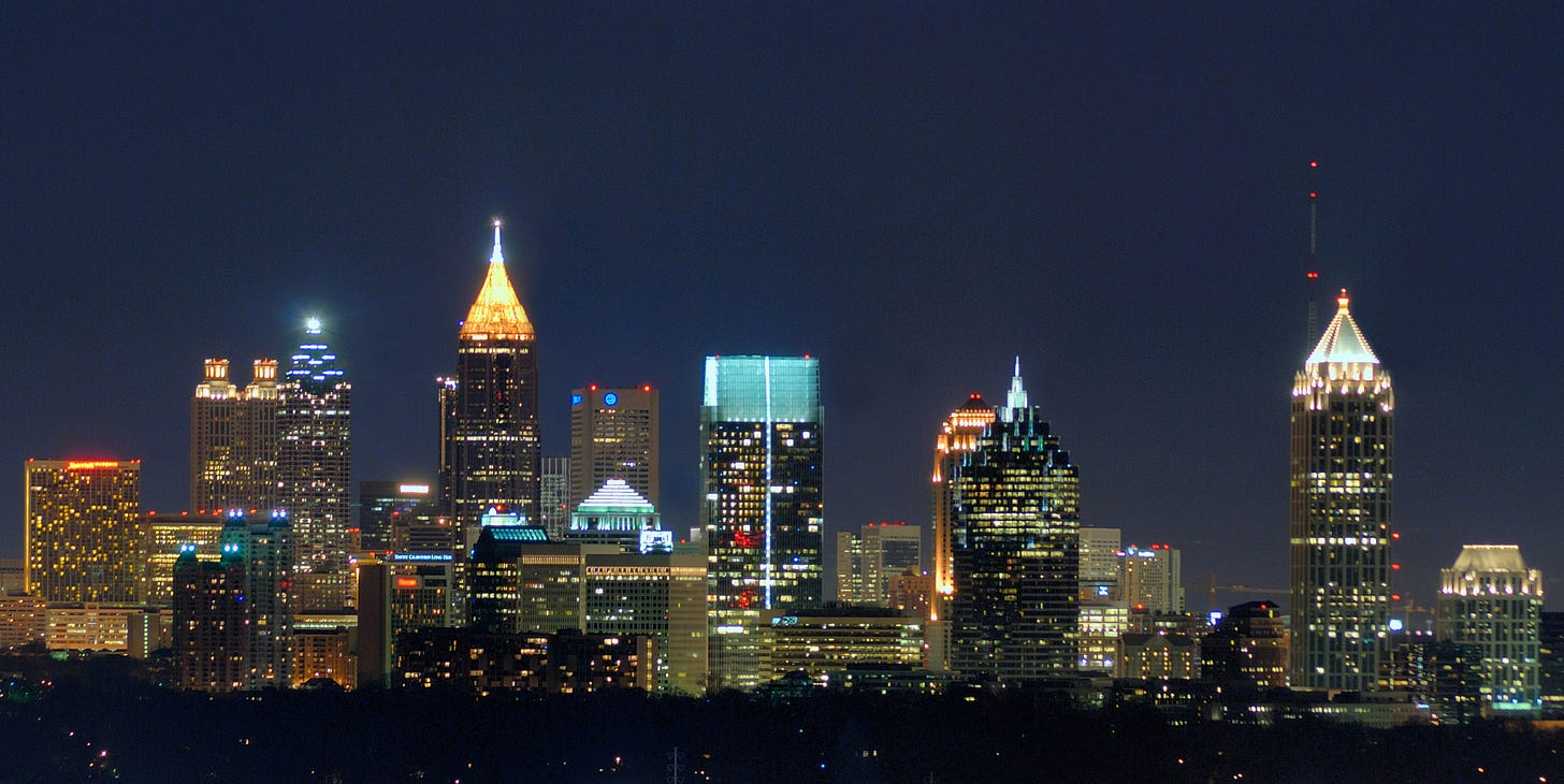 Image result for atlanta skyline