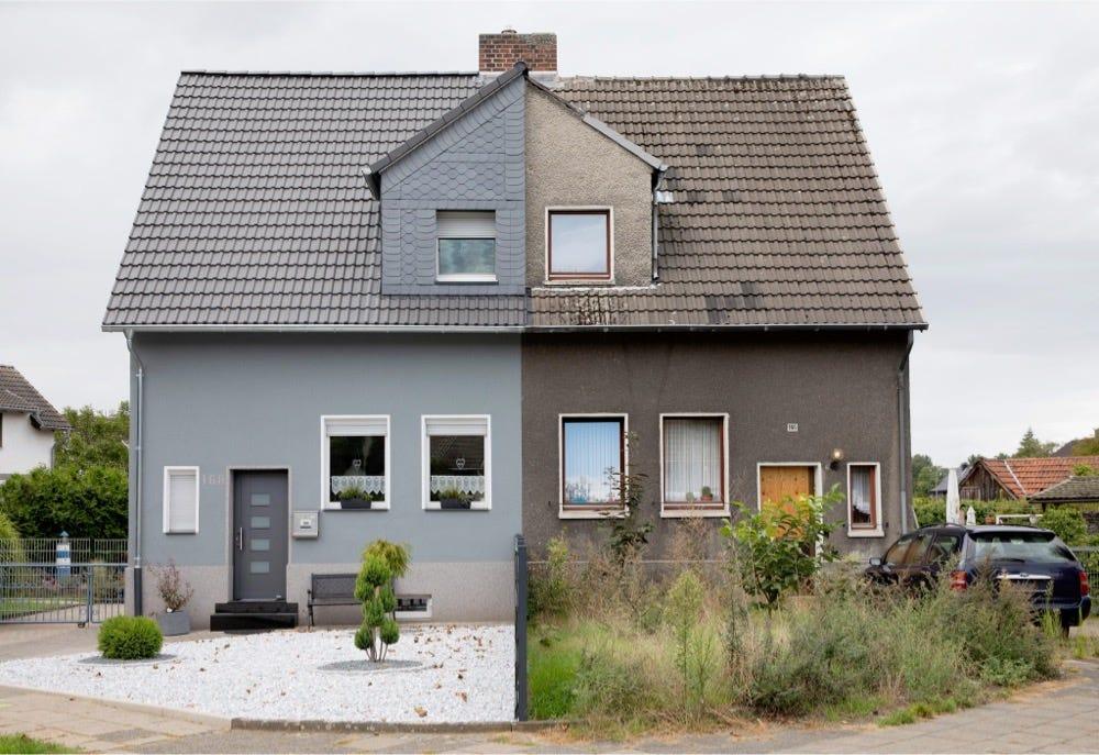 half-renovated houses