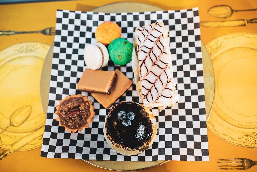 An assortment of desserts at Amélie's French Bakery & Café.