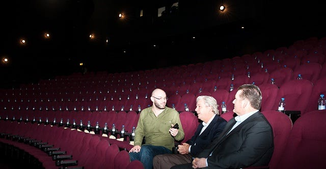 Jonathan Melville, Larry O'Reilly and Matt Eyre discuss Cineworld IMAX