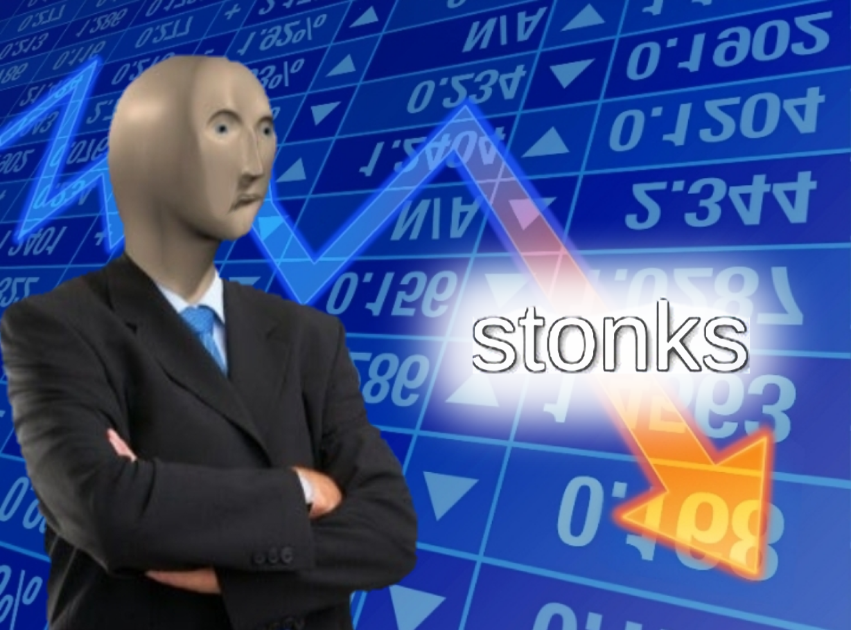 Image result for stonks down