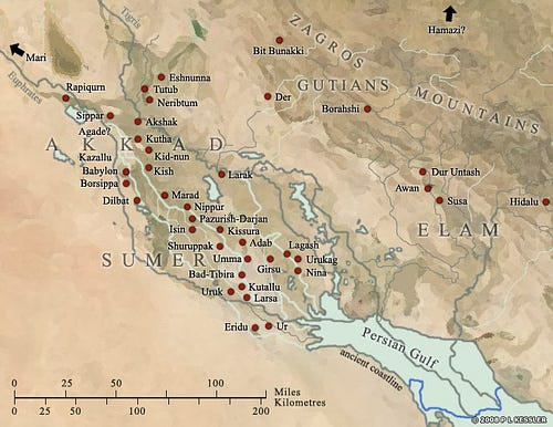 Image result for sumer map