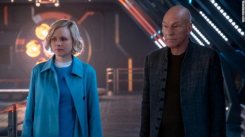 Alison Pill and Patrick Stewart in 'Star Trek: Picard'