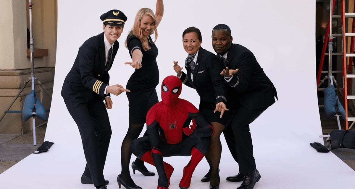Image result for spiderman united airlines