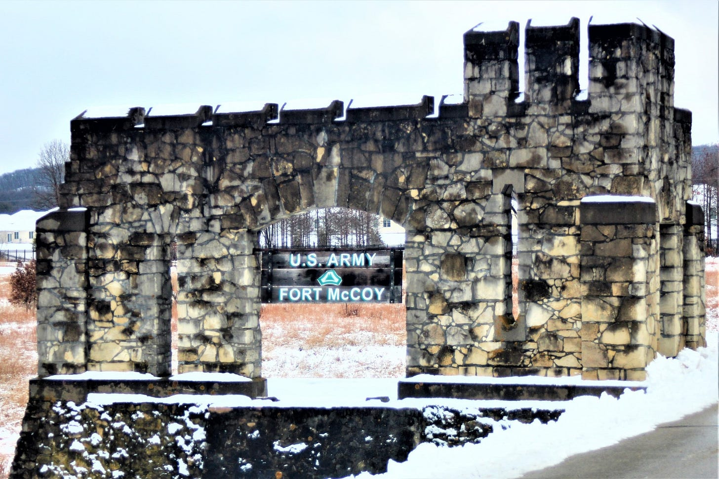 An old stone fort gate