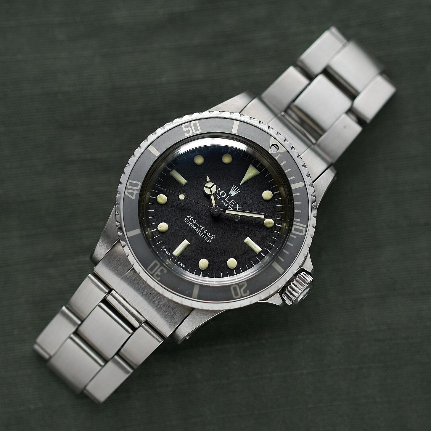 """Matte dial reference 5513 """"Meters First"""" (1970) 