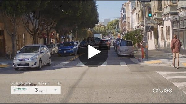 Cruise has released a video of *so* many left hand turns in SF.
