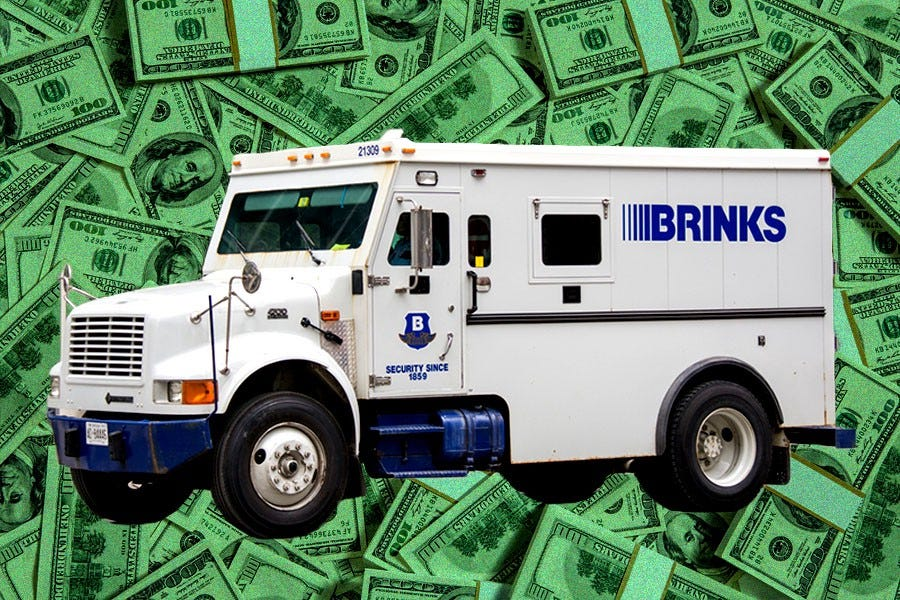 How Much Money is Actually in the Brink's Truck When It Backs Up? | by John  McDermott | MEL Magazine | Medium