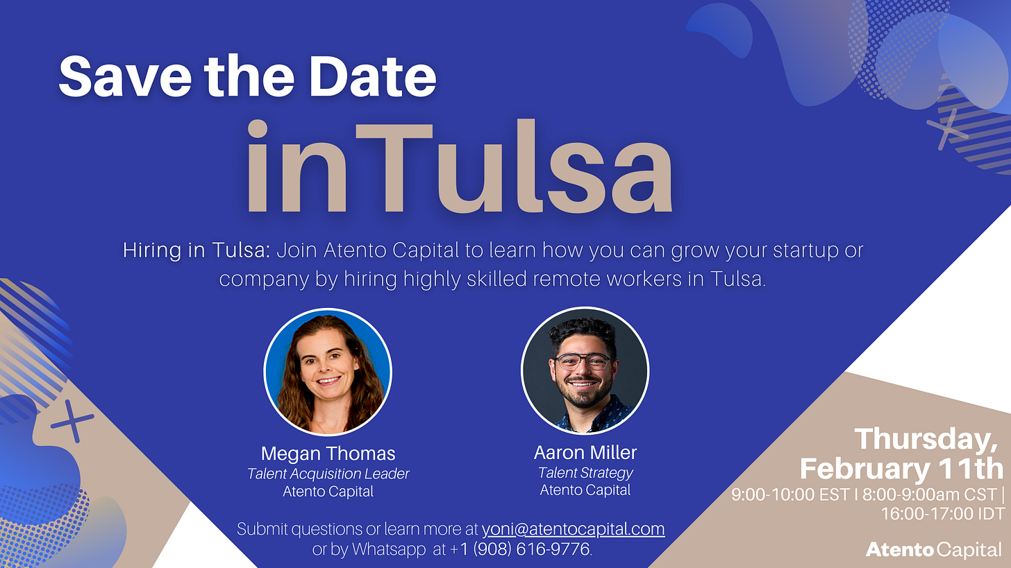 https://www.eventbrite.com/e/intulsa-hiring-highly-skilled-remote-workers-tickets-138738975009?utm_campaign=Yoni%27s%20Kitchen%20Cabinet%20&utm_medium=email&utm_source=Revue%20newsletter